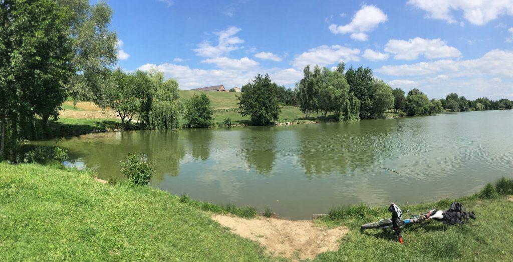 Vodná nádrž Kanianka v lete