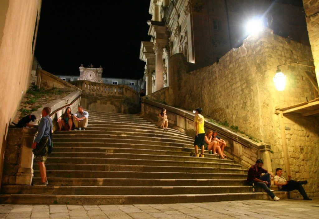 Night photo Dubrovnik, Croatia