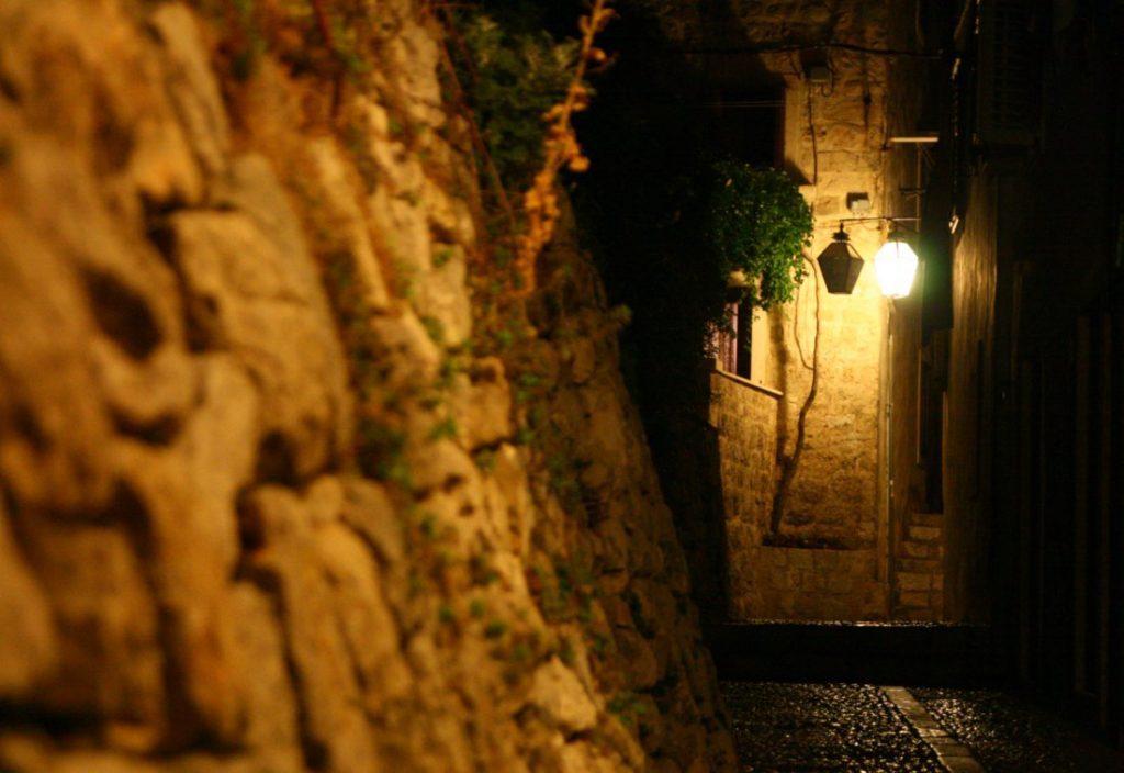 Nočná fotografia, Dubrovnik