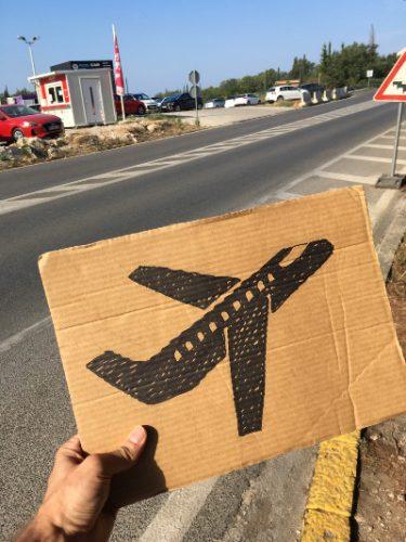 Stopovanie, hitchhiking Dubrovnik