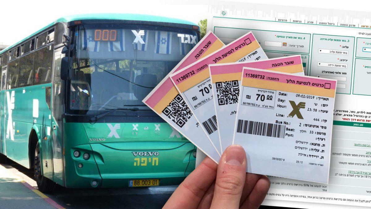 Kúpa autobusových lístkov v Izraeli krok za krokom
