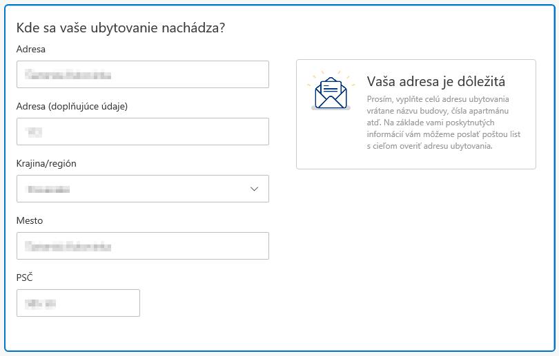 Booking.com - registrácia ubytovacieho zariadenia, adresa ubytovania