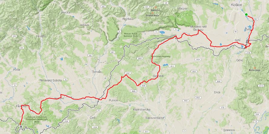 SK TOUR - na bicykloch cez Slovensko, 2. etapa: Košice - Šiatorská Bukovinka