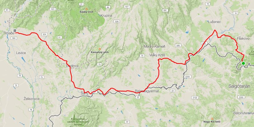 SK TOUR - na bicykloch cez Slovensko, 3. etapa: Šiatorská Bukovinka - Levice