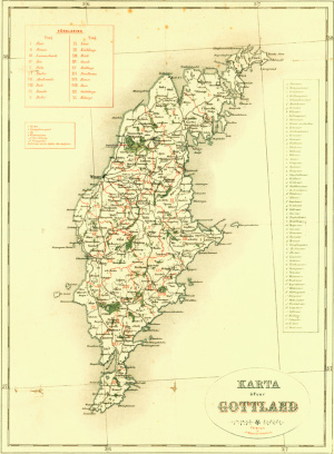 Gotland - mapa, historická