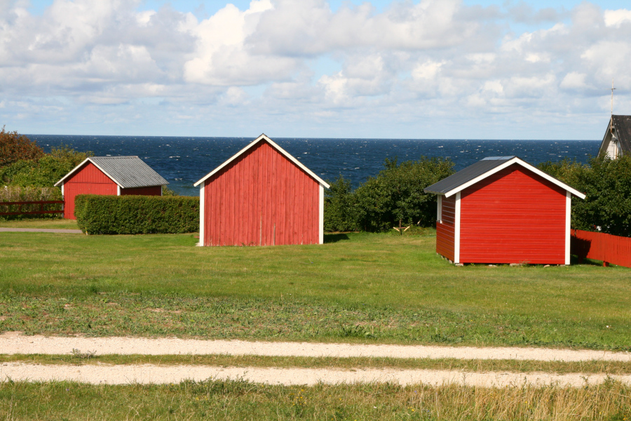 Gotland - rybárske domčeky