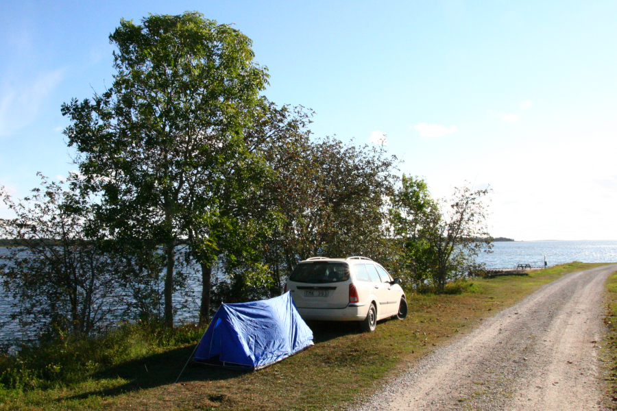 Na Gotlande je možné stanovať takmer všade
