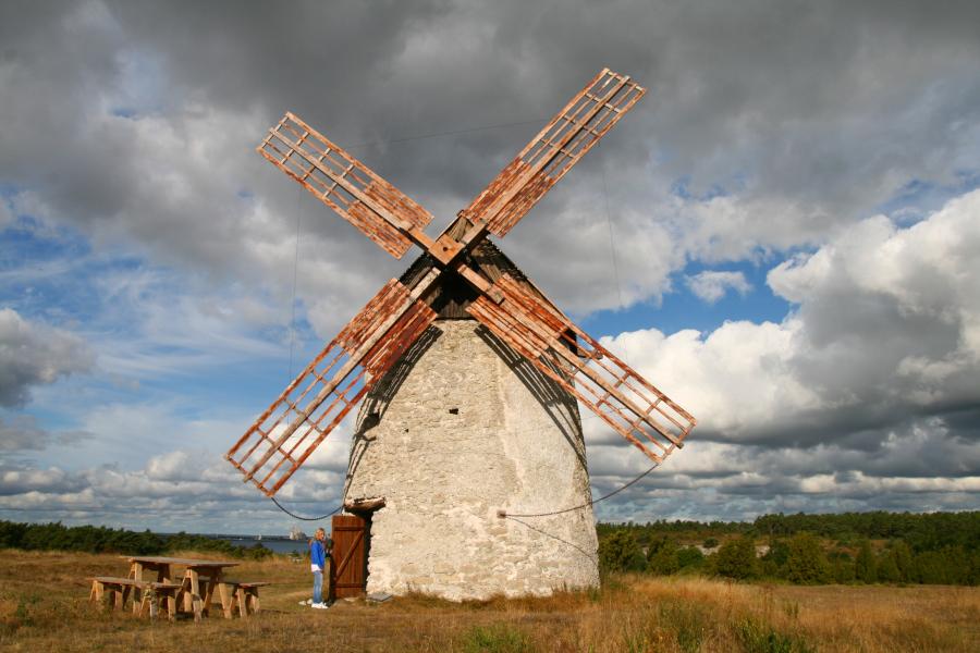 Veterný mlyn na Gotlande