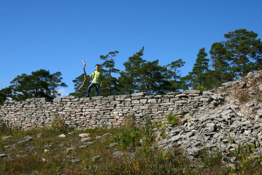 pozostatky vikingského opevnenie na Gotlande