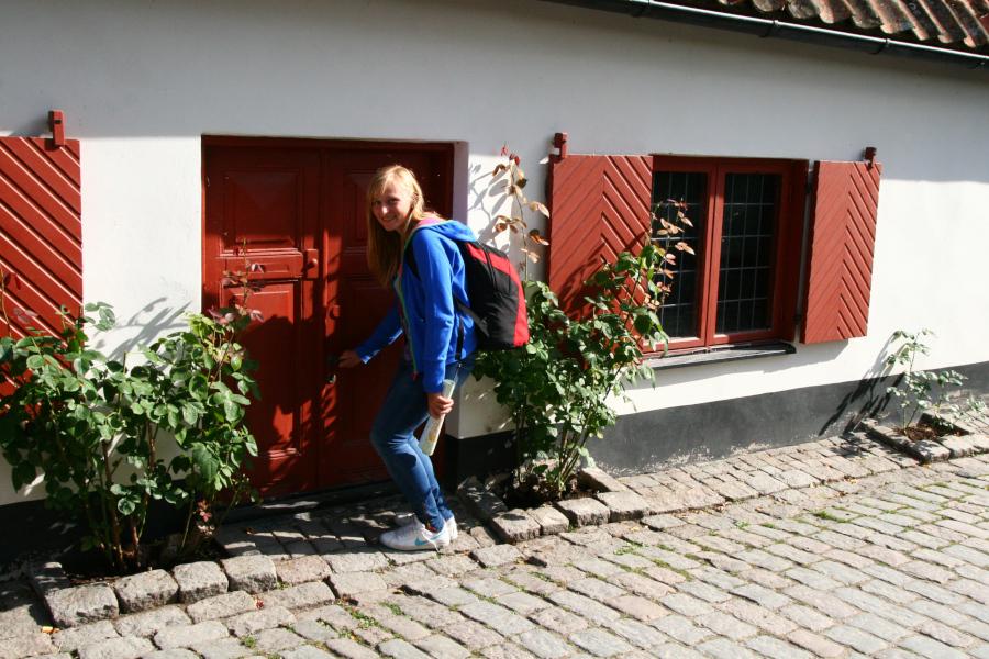 Miniatúrne domčeky vo Visby