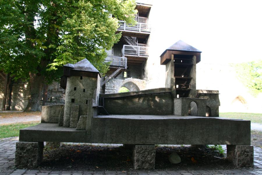 Visby - maketa opevnenia