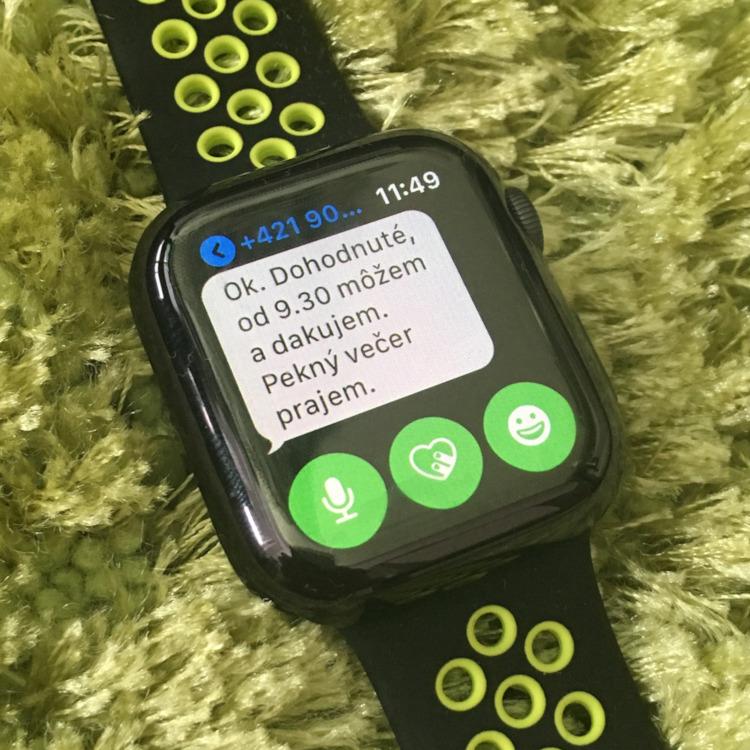 Apple Watch 4 - SMS správy