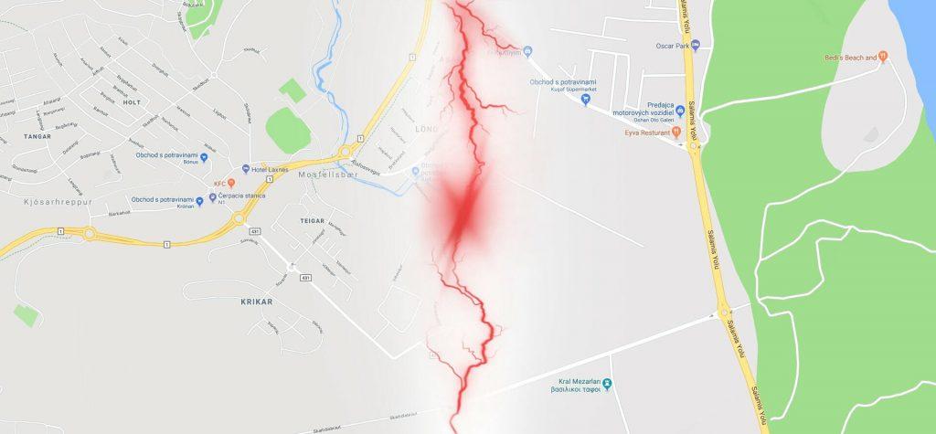 Iceland and Cyprus Google Maps, Reykjavík vs. Salamis
