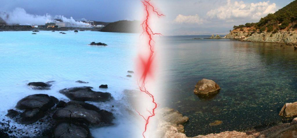 Modrá lagúna na Islande a na Cypre