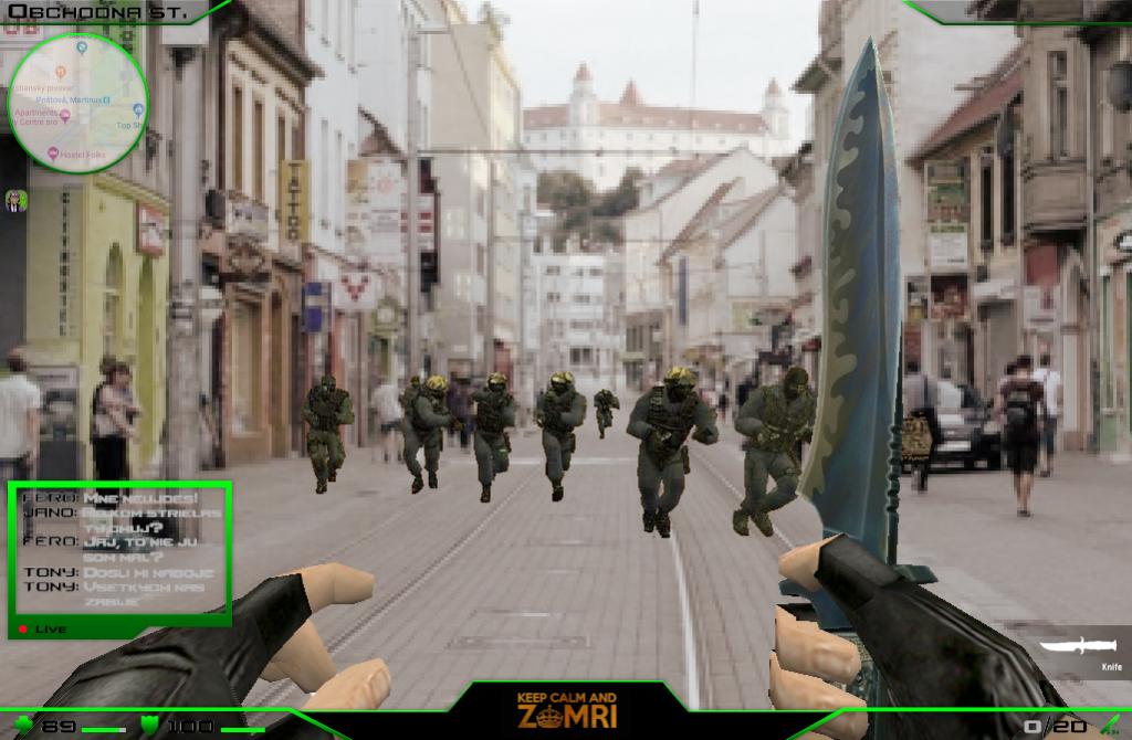 Counter Strike - Obchodná ulica, Bratislava, ozbrojený muž, prestrelka ZOMRI