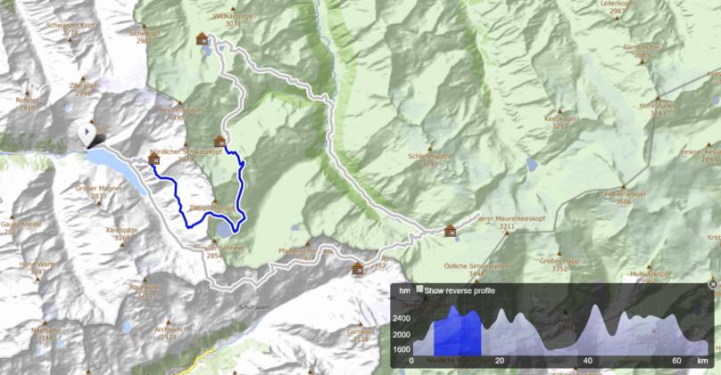 Dreiländer Tour - deň 2, Richter Hütte