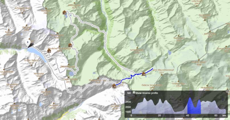 Dreiländer Tour - deň 5, Rifugio Brigata Tridentina, Birnlückenhütte