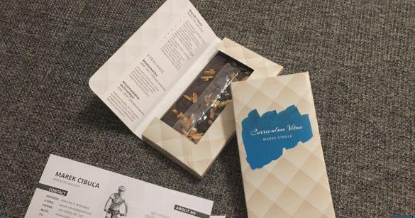 Creative CV - chocolate CV