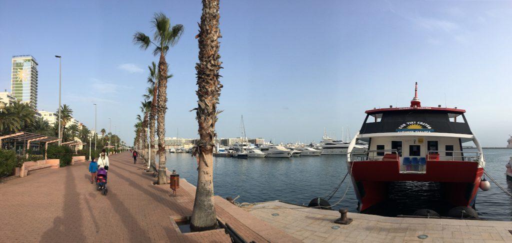 Alicante - pobrežie, panoráma