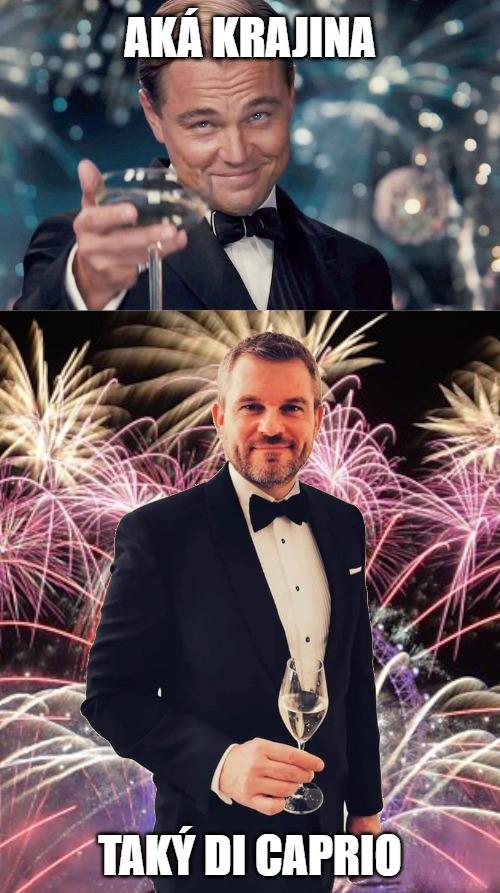 Pellegrini, Di Caprio - šťastný nový rok, meme na ZOMRI
