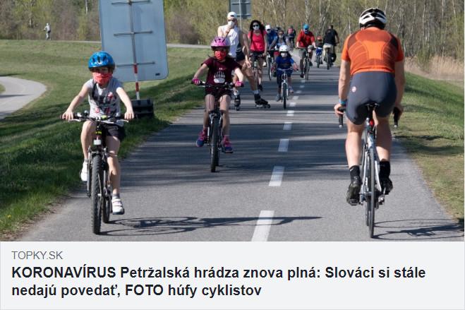 Obmedzenie pohybu veľká noc covid-19 - petržalská hrádza, TOPKY