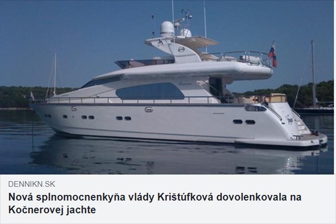 Krištúfková Kočner jachta dovolenka