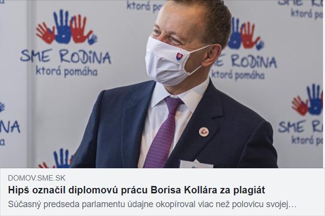 Boris Kollár plagiátor - kauzy vlády I. Matoviča