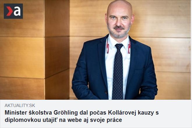 Kauzy vlády Igora Matoviča - Grohling diplomovka plagiát