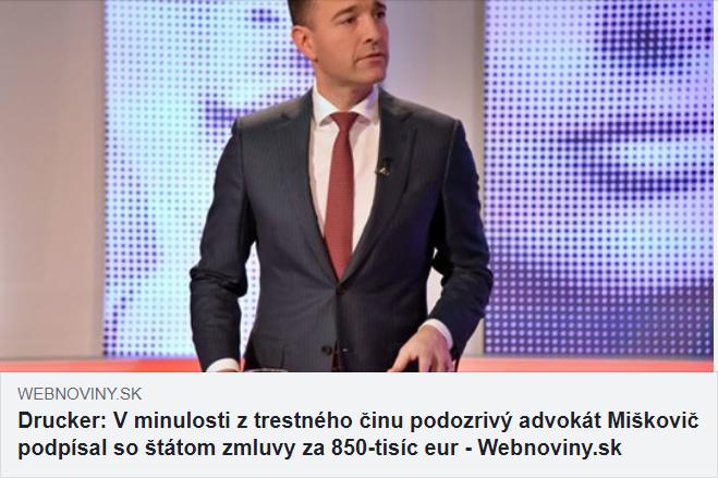 michal miškovič - právne služby, poradca ministra - kauzy