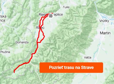 trasa Rajecké Teplice - Čičmany