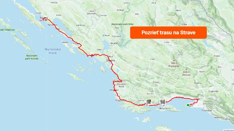 Strava 1000 km jadranských deň 1