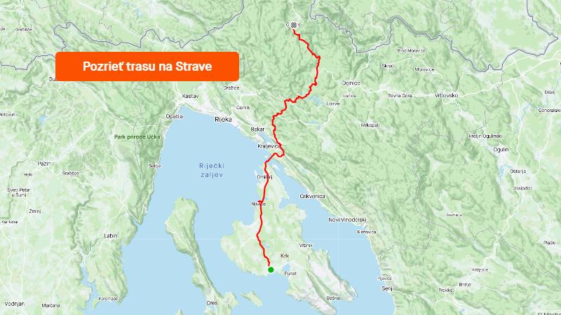 Strava 1000 km jadranských deň 4