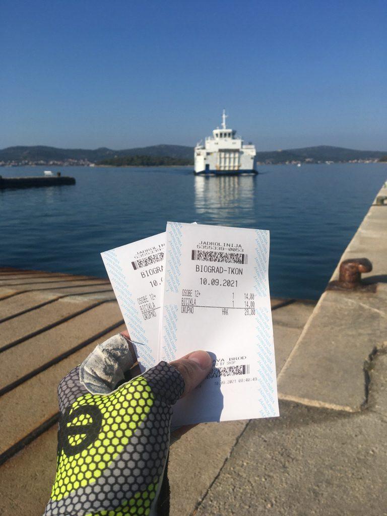 Biograd Tkon ferry trajekt